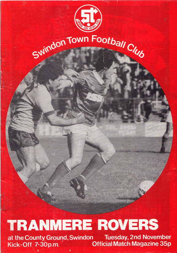 Tuesday, November 2, 1982 - vs. Tranmere Rovers (Home)