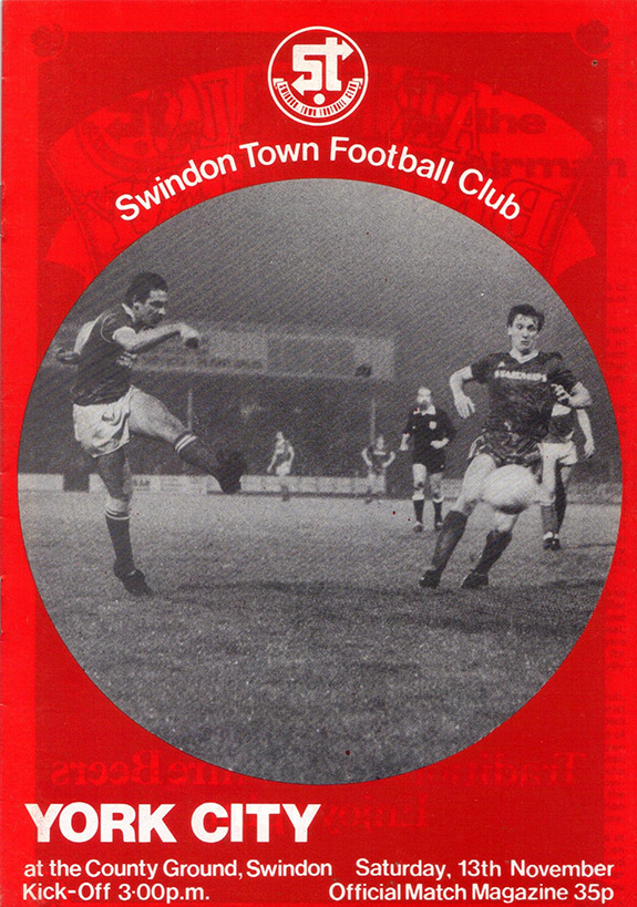 Saturday, November 13, 1982 - vs. York City (Home)