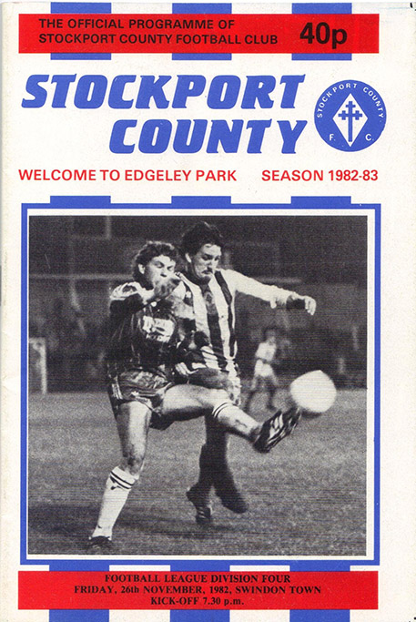 Friday, November 26, 1982 - vs. Stockport County (Away)