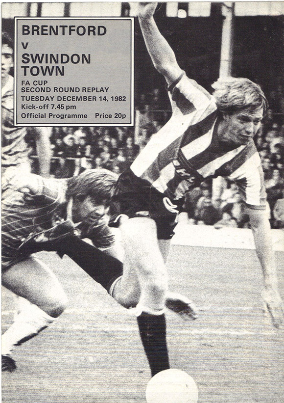 Tuesday, December 14, 1982 - vs. Brentford (Away)