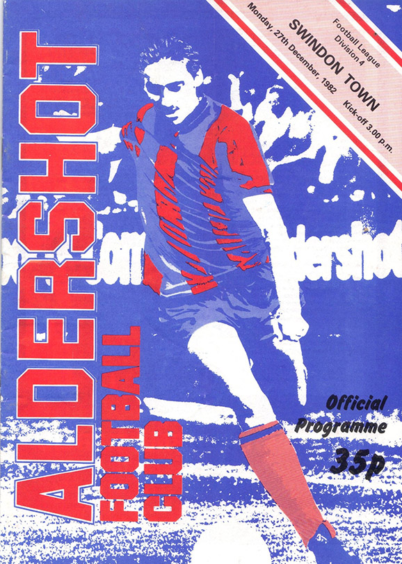 Monday, December 27, 1982 - vs. Aldershot (Away)