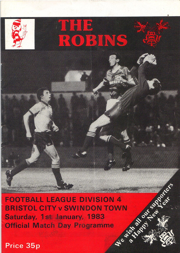 Saturday, January 1, 1983 - vs. Bristol City (Away)