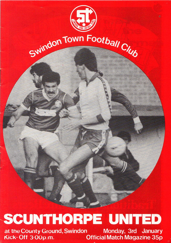 Monday, January 3, 1983 - vs. Scunthorpe United (Home)