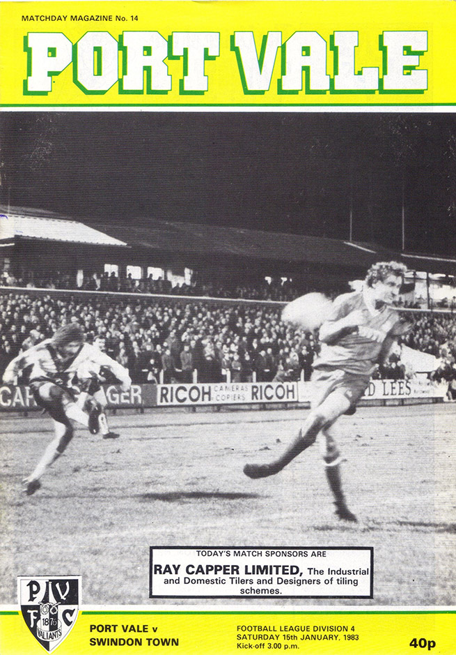 Saturday, January 15, 1983 - vs. Port Vale (Away)