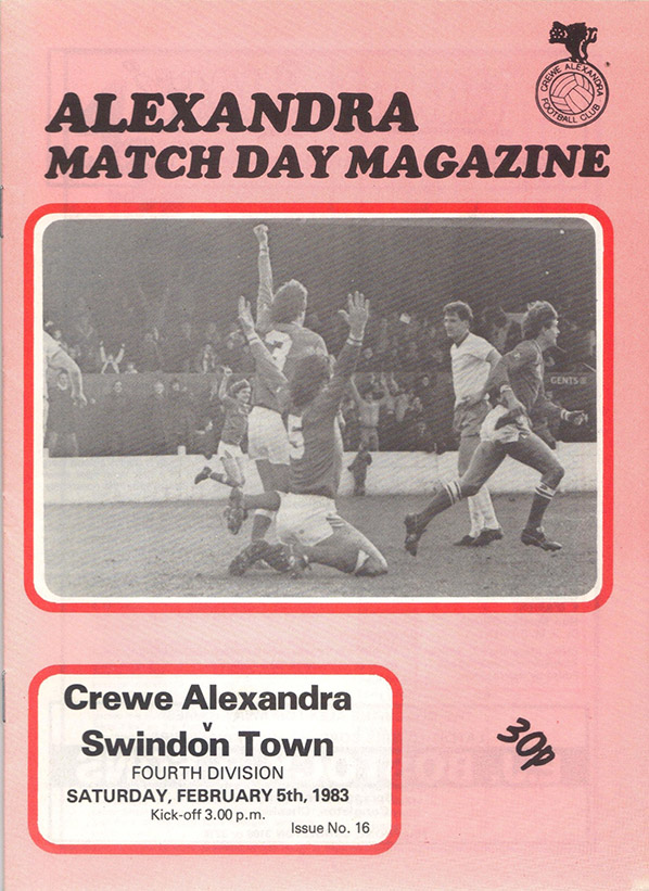 Saturday, February 5, 1983 - vs. Crewe Alexandra (Away)
