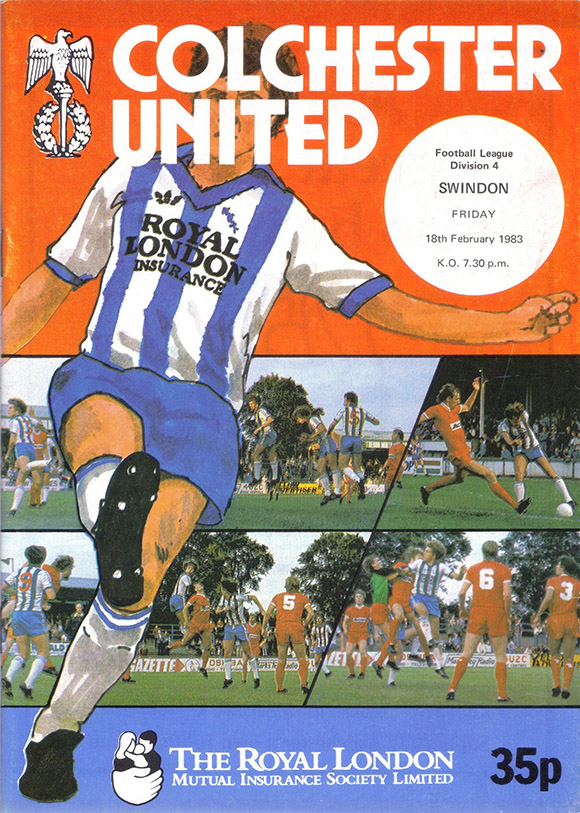 Friday, February 18, 1983 - vs. Colchester United (Away)