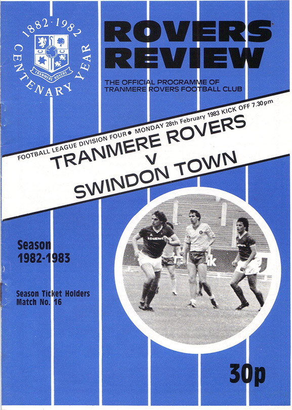 Monday, February 28, 1983 - vs. Tranmere Rovers (Away)