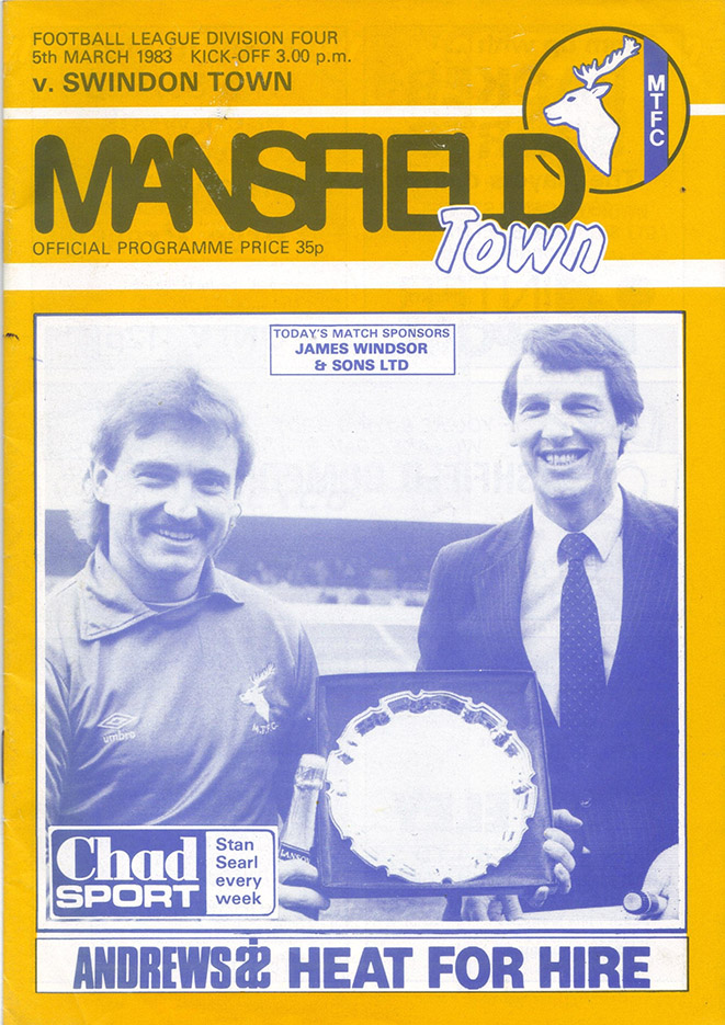 Saturday, March 5, 1983 - vs. Mansfield Town (Away)
