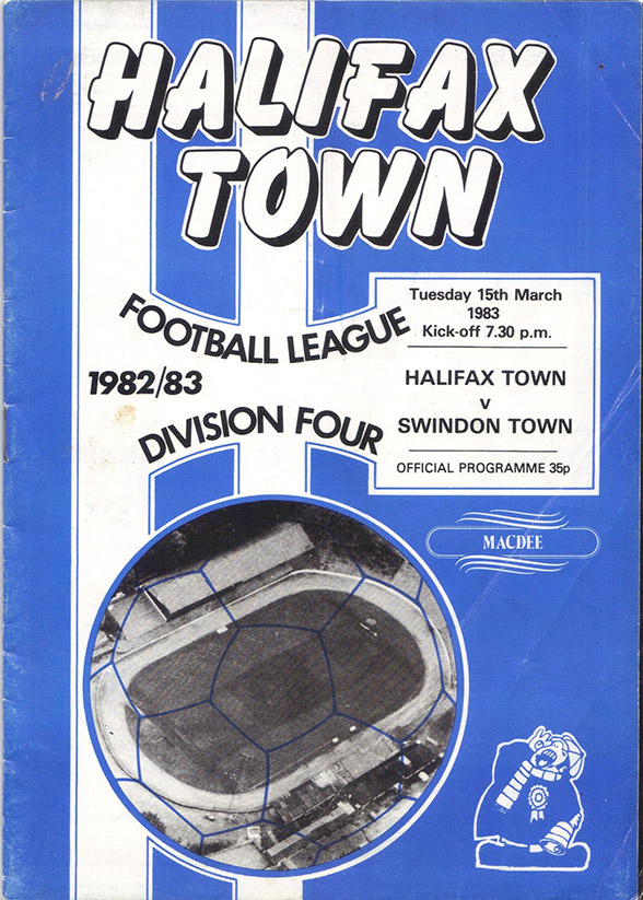 Tuesday, March 15, 1983 - vs. Halifax Town (Away)