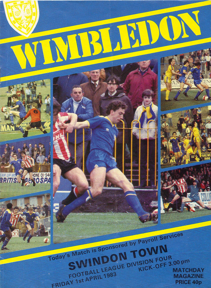 Friday, April 1, 1983 - vs. Wimbledon (Away)