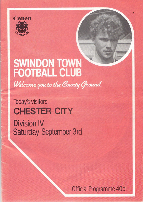 Saturday, September 3, 1983 - vs. Chester City (Home)