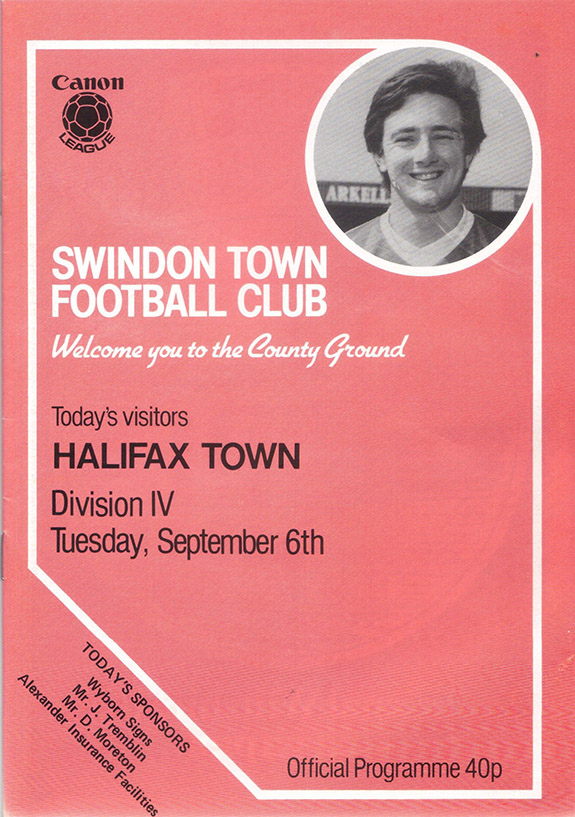 Tuesday, September 6, 1983 - vs. Halifax Town (Home)