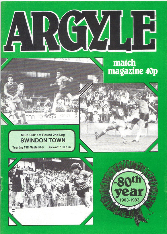 Tuesday, September 13, 1983 - vs. Plymouth Argyle (Away)