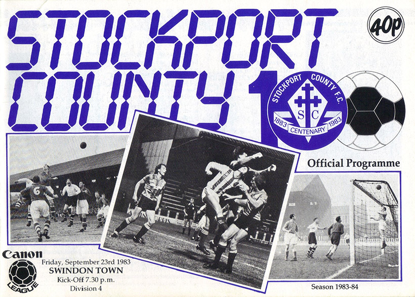 Friday, September 23, 1983 - vs. Stockport County (Away)