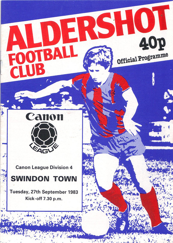Tuesday, September 27, 1983 - vs. Aldershot (Away)