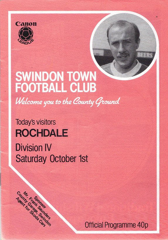 Saturday, October 1, 1983 - vs. Rochdale (Home)