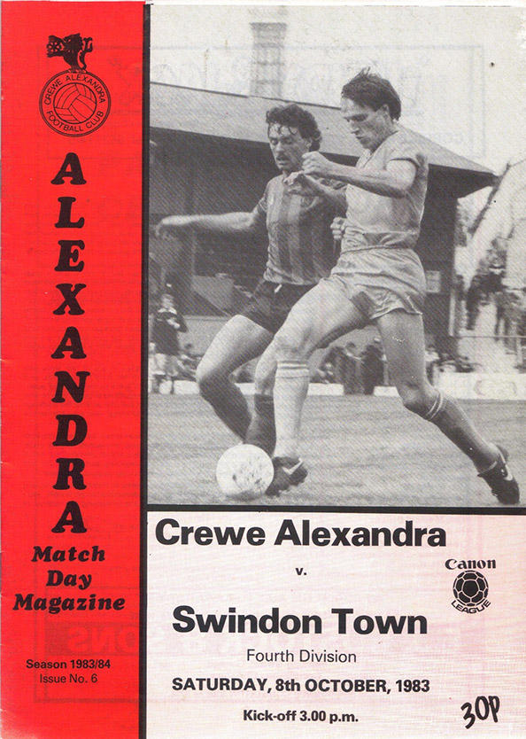 Saturday, October 8, 1983 - vs. Crewe Alexandra (Away)
