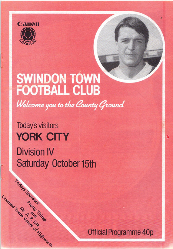 Saturday, October 15, 1983 - vs. York City (Home)