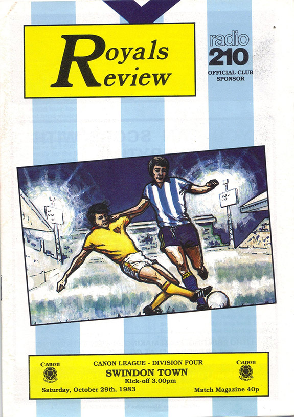 Saturday, October 29, 1983 - vs. Reading (Away)