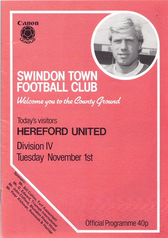 Tuesday, November 1, 1983 - vs. Hereford United (Home)