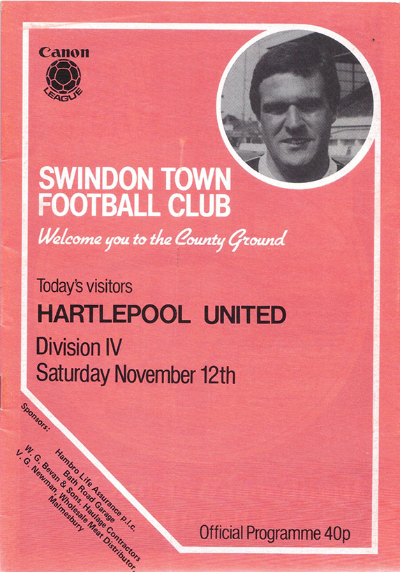 Saturday, November 12, 1983 - vs. Hartlepool United (Home)