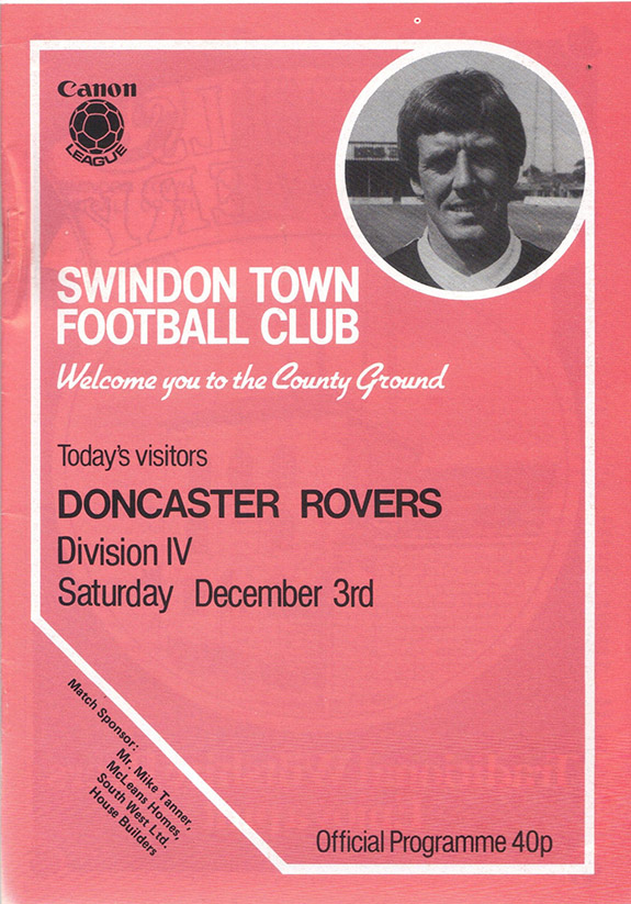 Saturday, December 3, 1983 - vs. Doncaster Rovers (Home)