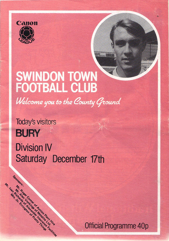 Saturday, December 17, 1983 - vs. Bury (Home)