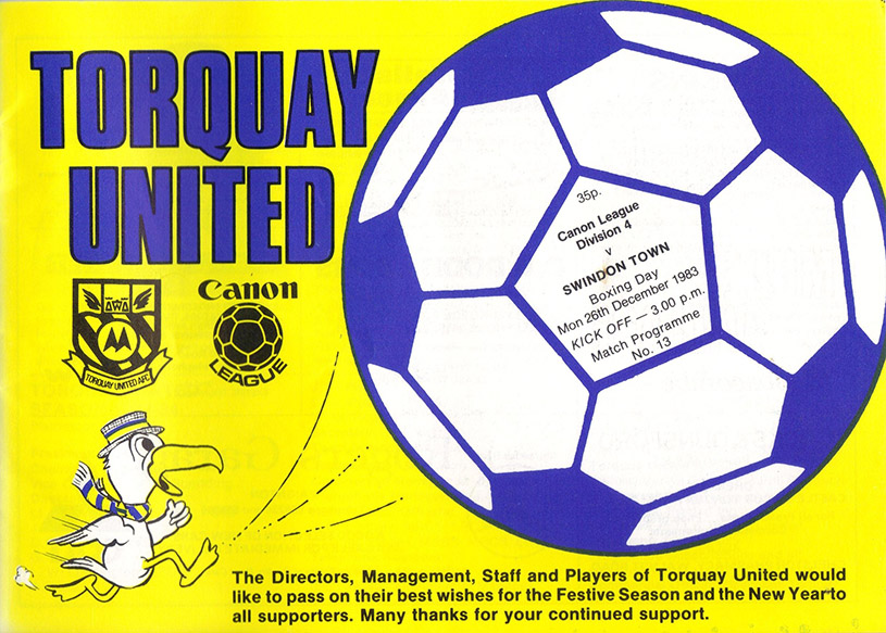 Monday, December 26, 1983 - vs. Torquay United (Away)