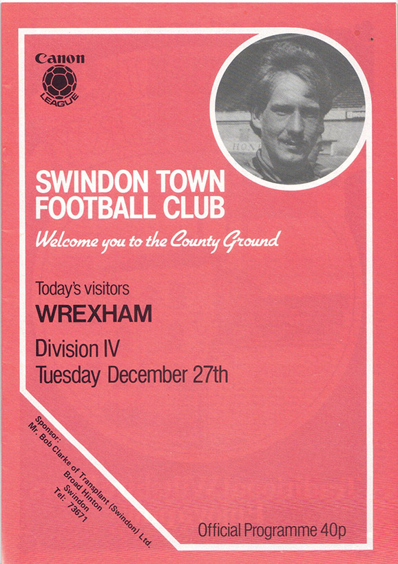 Tuesday, December 27, 1983 - vs. Wrexham (Home)