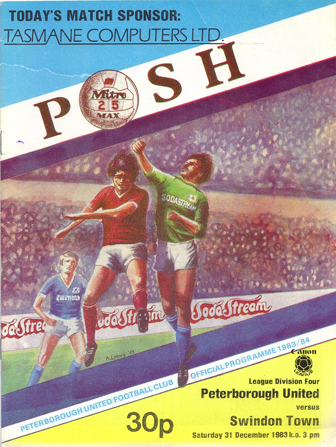 Saturday, December 31, 1983 - vs. Peterborough United (Away)