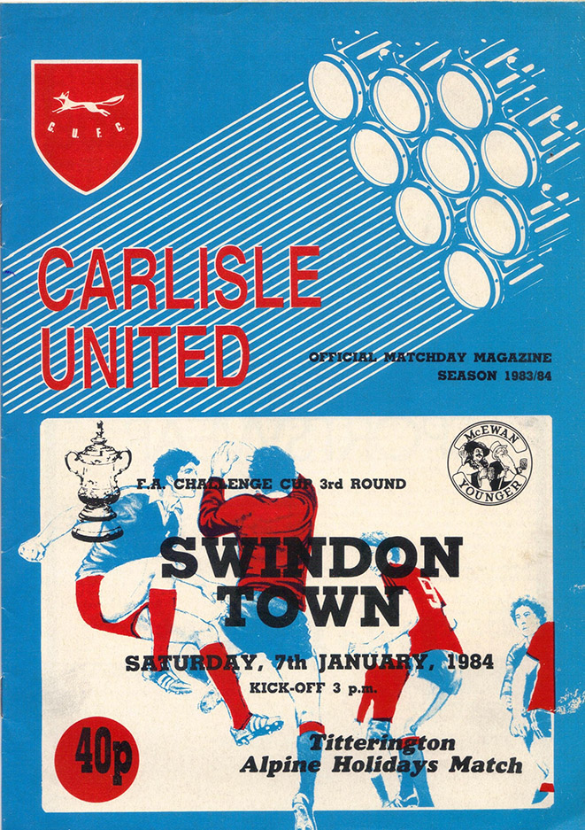 Saturday, January 7, 1984 - vs. Carlisle United (Away)