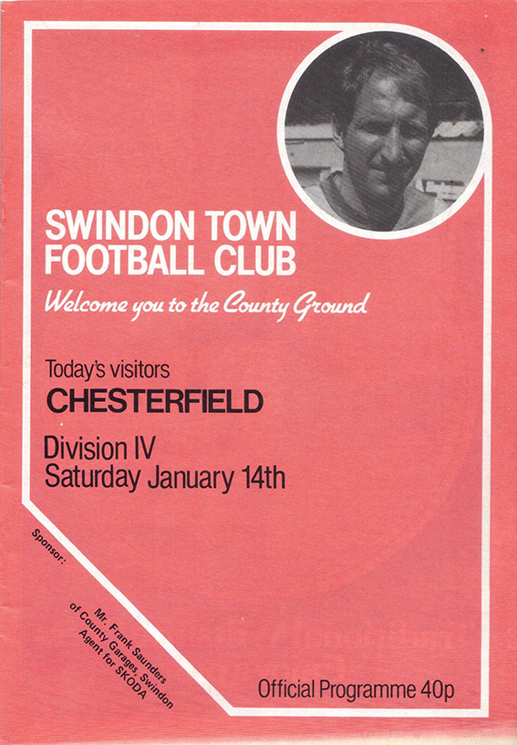 Saturday, January 14, 1984 - vs. Chesterfield (Home)
