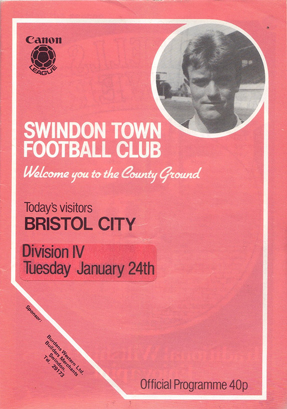 Tuesday, January 24, 1984 - vs. Bristol City (Home)