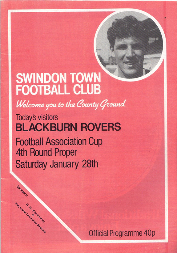 Saturday, January 28, 1984 - vs. Blackburn Rovers (Home)