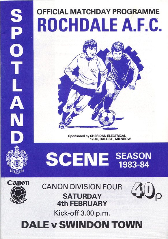 Saturday, February 4, 1984 - vs. Rochdale (Away)
