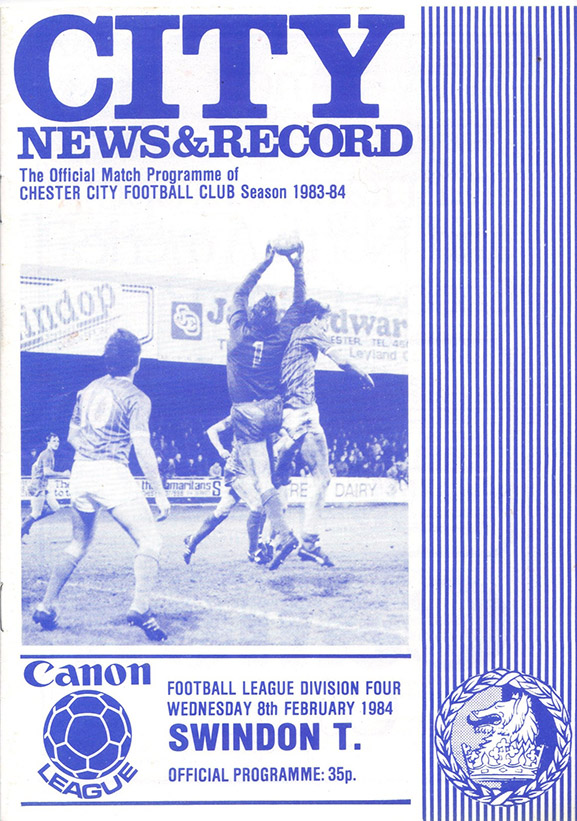 Wednesday, February 8, 1984 - vs. Chester City (Away)