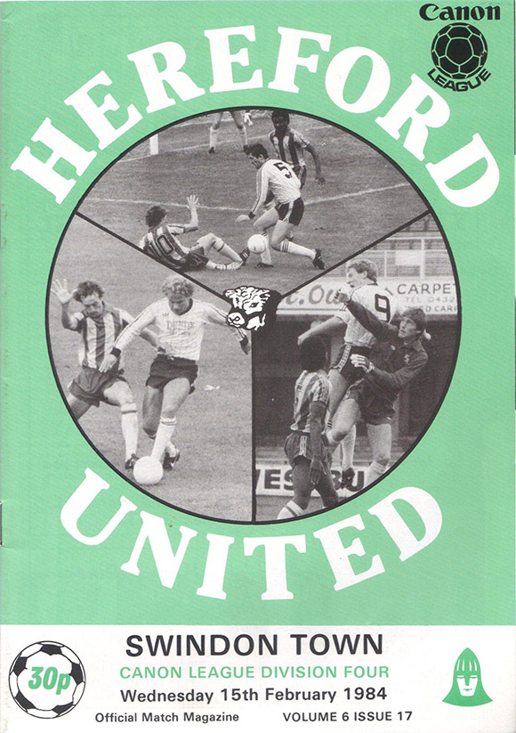 Wednesday, February 15, 1984 - vs. Hereford United (Away)