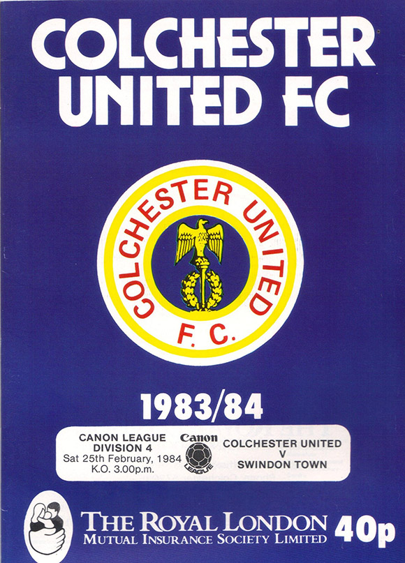 Saturday, February 25, 1984 - vs. Colchester United (Away)
