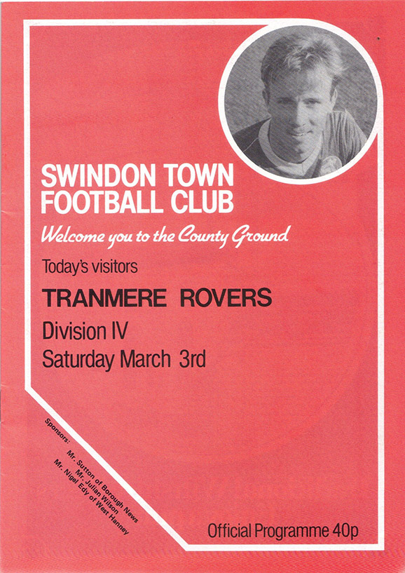 Saturday, March 3, 1984 - vs. Tranmere Rovers (Home)