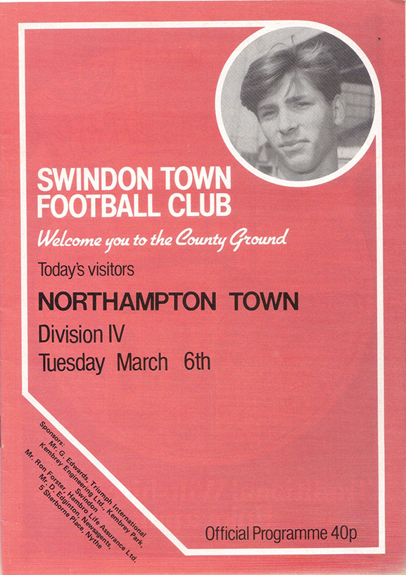 Tuesday, March 6, 1984 - vs. Northampton Town (Home)