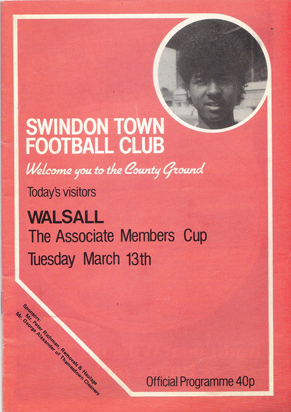 Tuesday, March 13, 1984 - vs. Walsall (Home)