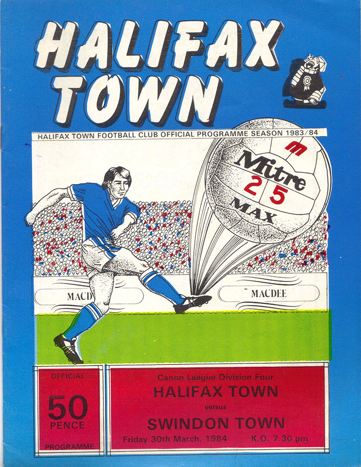 Friday, March 30, 1984 - vs. Halifax Town (Away)