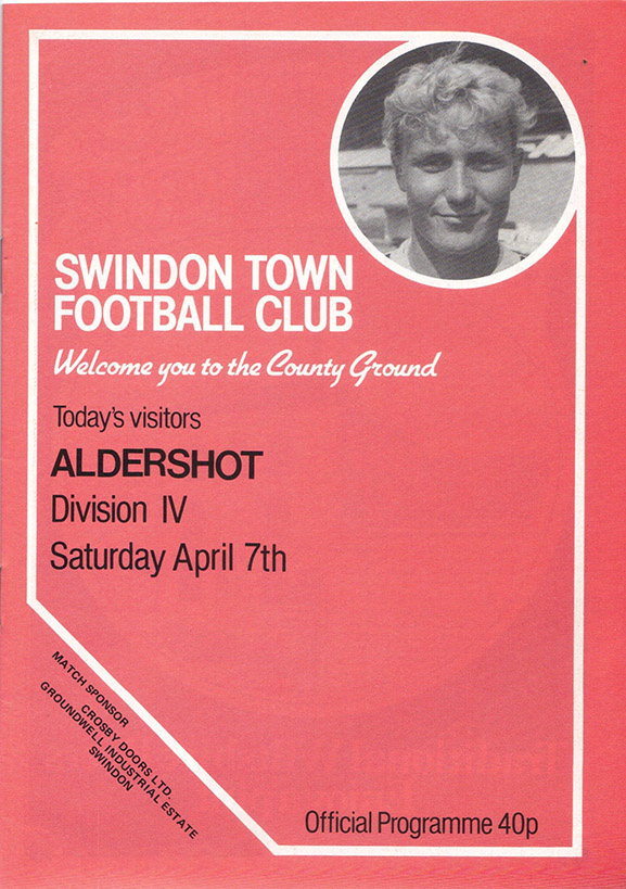 Saturday, April 7, 1984 - vs. Aldershot (Home)