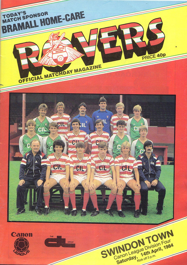 Saturday, April 14, 1984 - vs. Doncaster Rovers (Away)