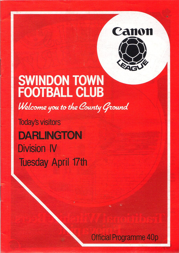 Tuesday, April 17, 1984 - vs. Darlington (Home)