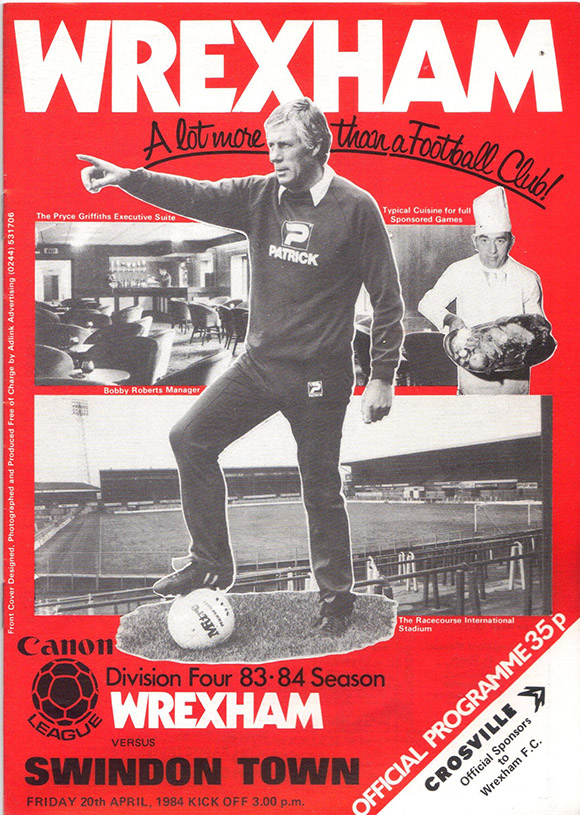 Friday, April 20, 1984 - vs. Wrexham (Away)