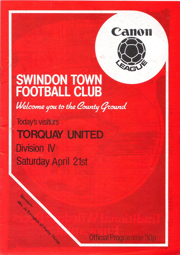 Saturday, April 21, 1984 - vs. Torquay United (Home)