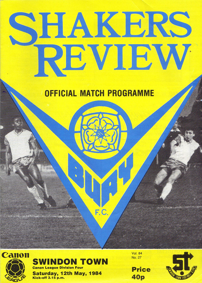 Saturday, May 12, 1984 - vs. Bury (Away)