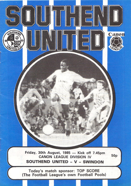 <b>Friday, August 30, 1985</b><br />vs. Southend United (Away)