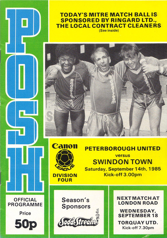<b>Saturday, September 14, 1985</b><br />vs. Peterborough United (Away)